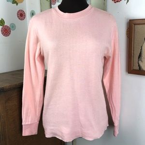 Vintage L.L. Bean Pink Thermal Top Double Layer M